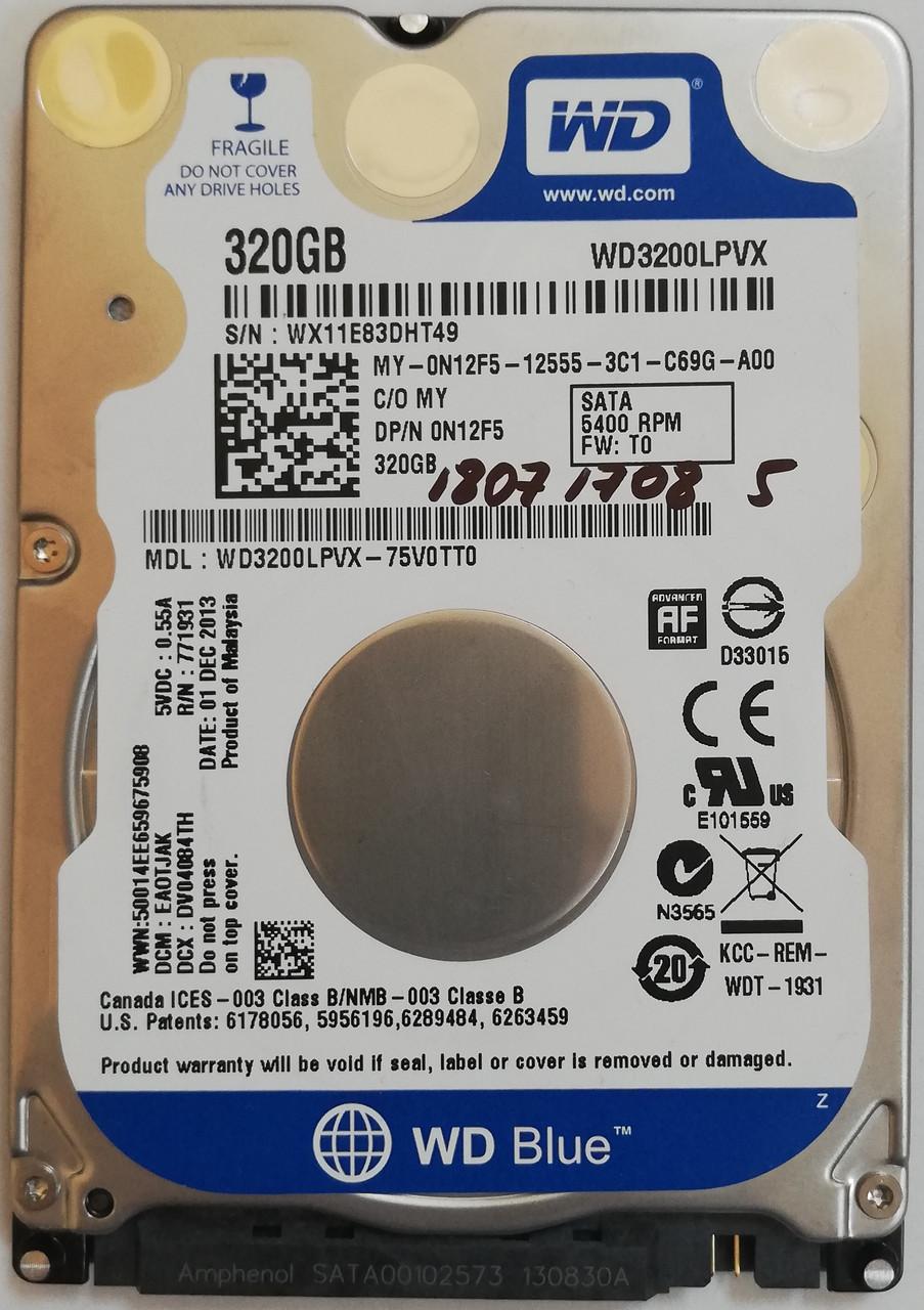 "Жесткий диск для ноутбука Western Digital Blue 320GB 2.5"" 8MB 5400rpm 6Gb/s (WD3200LPVX) SATAIII Б/У"