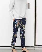 Стильные брюки, цветочный принт