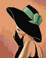 "Картина  по номерам  Brushme ""Дама в шляпе"" GX30461"