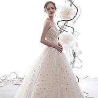 Елегантое свадебное платье ручной работы. Весільна сукня пишна. Свадебное платье А силуэт пышное