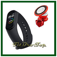 Универсальный фитнес-браслет Band M4 + держатель для телефона в ПОДАРОК! xiaomi mi band4 аналог