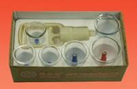 Вакуумные банки с насосом  6 штук, вакуумно-баночный массаж, фото 1