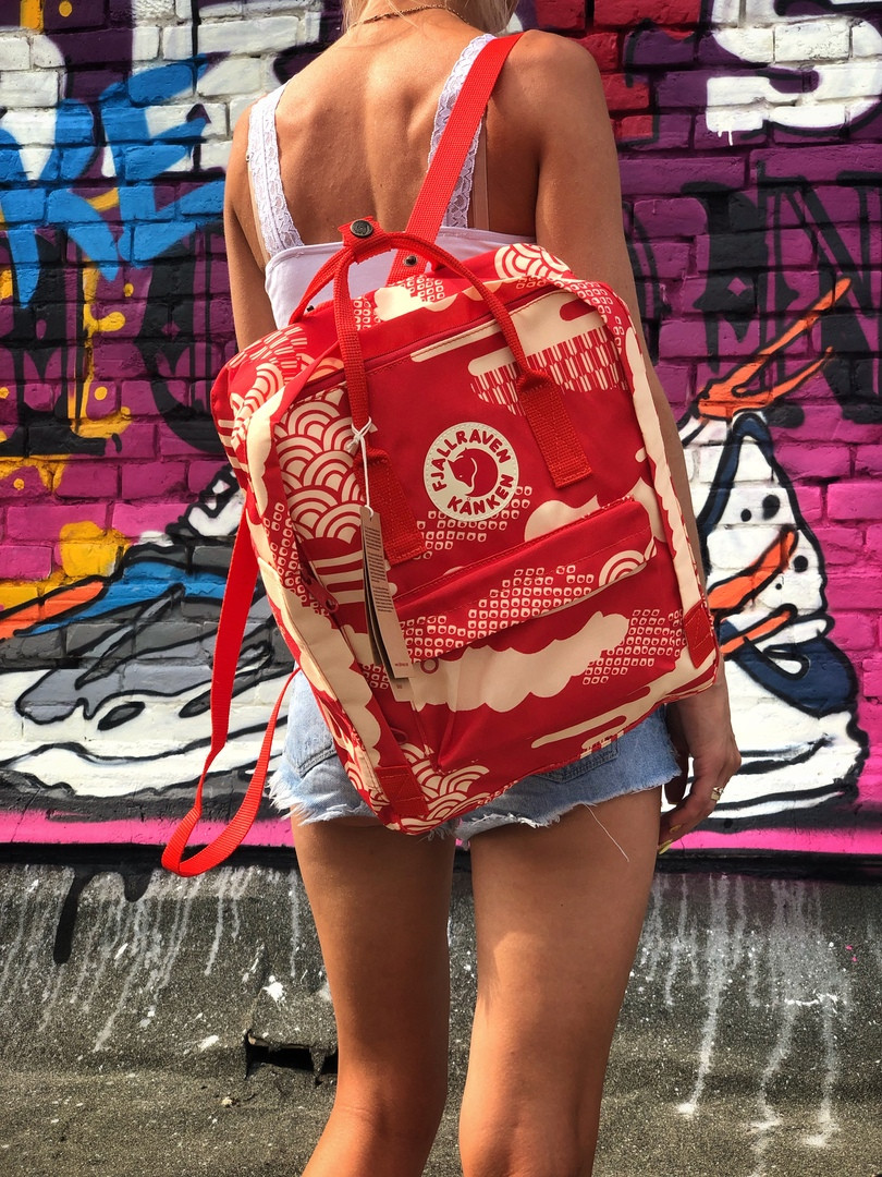 Рюкзак  Fjallraven Kanken, красного цвета. Стильный городской рюкзак. Реплика. ТОП КАЧЕСТВО!!!