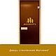 """Дверь стеклянная """"Бронза с рисунком"""" 8мм Липа, фото 2"""