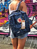 Рюкзак  Fjallraven Kanken,  Канкен синего цвета. Стильный городской рюкзак. Реплика. ТОП КАЧЕСТВО!!!, фото 1