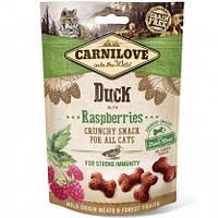 Carnilove Cat Crunchy Snack Лакомство для кошек утка, малина, (для иммунитета), 50г