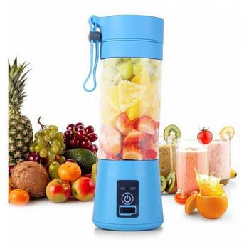 Фитнес-блендер Daiweina DWN-3S Smart Juice Blue шейкер портативный с USB зарядкой для смузи и коктейлей