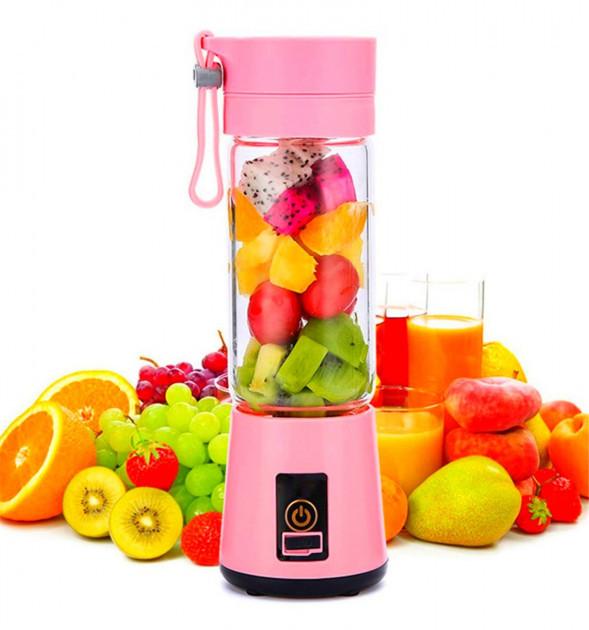 ➢Портативный фитнес-блендер Daiweina Smart Juice Pink шейкер для смузи с USB зарядкой портативный