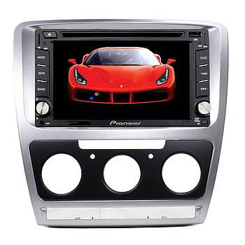 ➘Переходная рамка Lesko для Skoda Octavia N3758 Silver 2013 г.в. рамка для штатных автомагнитол