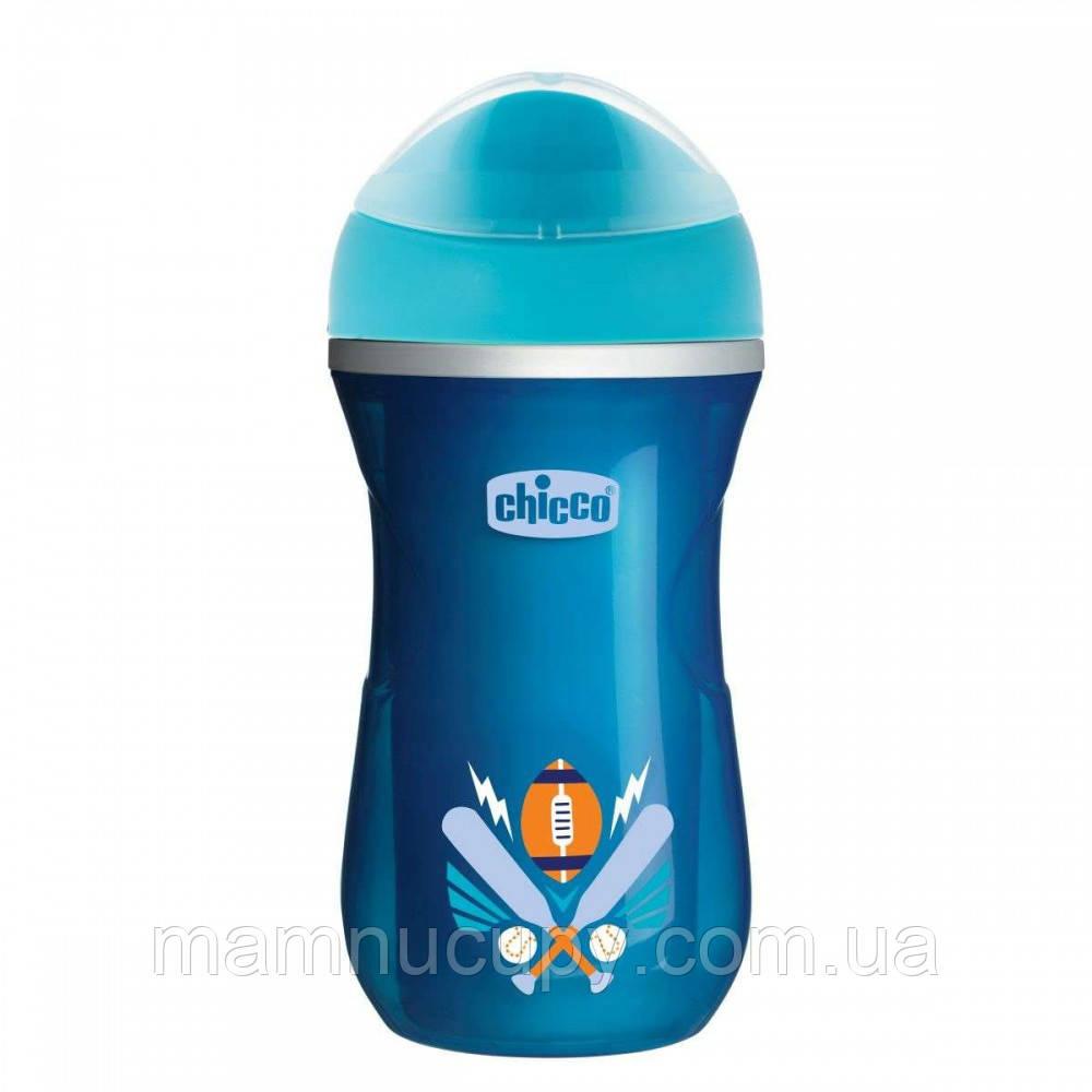 Чашка-непроливайка Chicco - Active Cup (06981.21) 266 мл / 14 мес.+ / синий