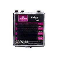 Ресницы Design Lashes - Black MIX (8 линий)