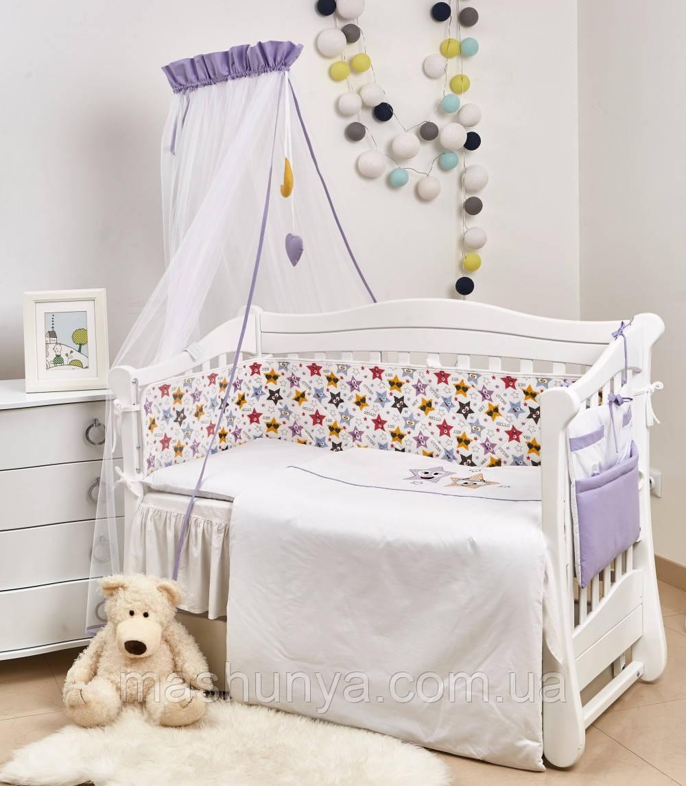 Детская постель Twins 3D Funny Stars 8 элементов