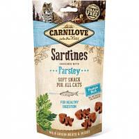 Carnilove Cat  Semi Moist Snack Лакомство для кошек сардина, петрушка, (для пищеварения), 50г