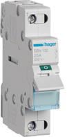 Выключатель нагрузки 1-полюсный 32А/230В, 1м Hager (SBN132)