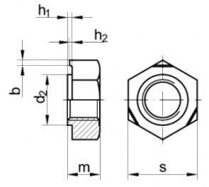 Купить приварную гайку DIN 929 метрическую