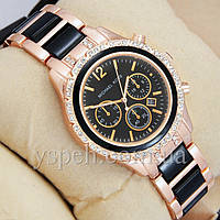 Женские Часы Michael Kors crystal Pink gold-black/Black
