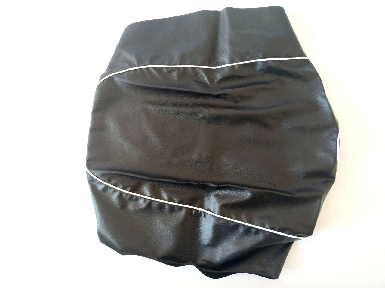 Чехол сиденья HONDA DIO AF-34/35 черный, белий кант JOHN DOE