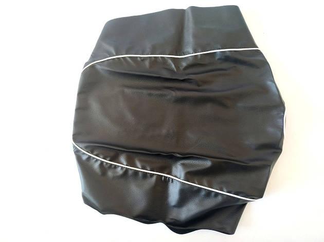 Чехол сиденья HONDA DIO AF-34/35 черный, белий кант JOHN DOE, фото 2