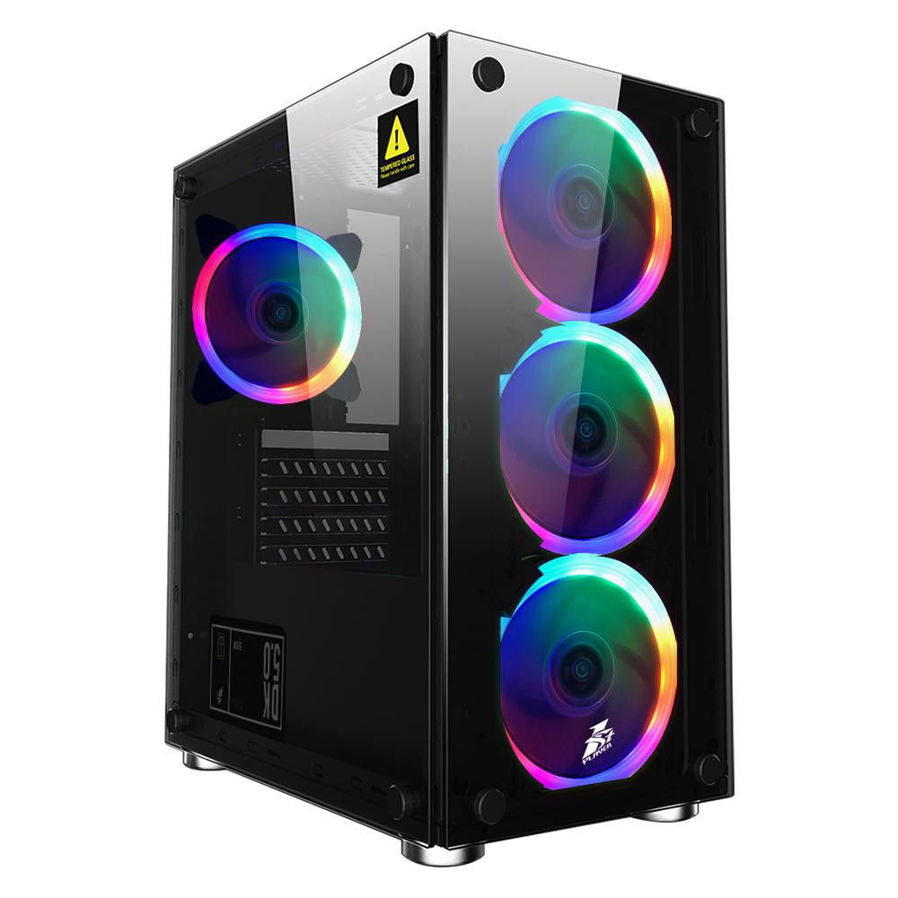 Корпус  1stPlayer X2-R1 Color LED Без БП