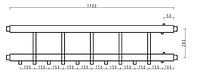Распределительный коллектор на 5 выходов вниз HidroMix