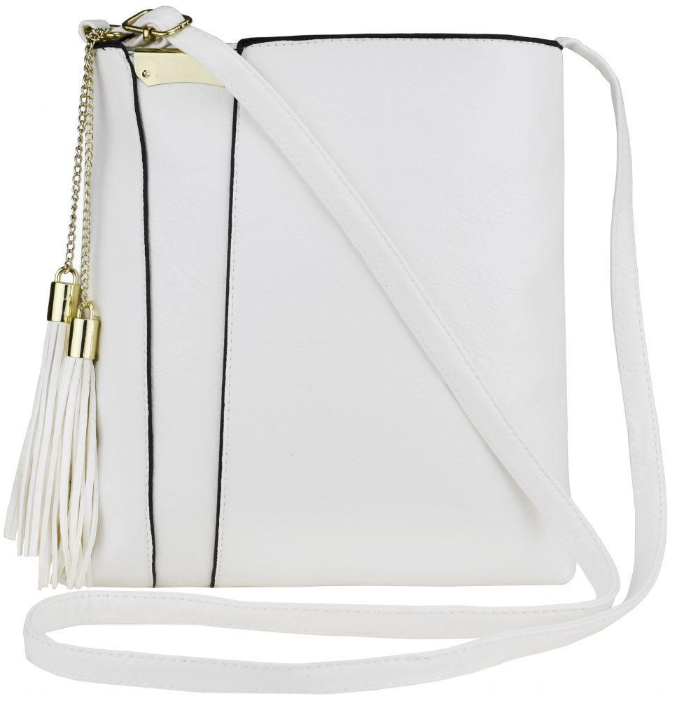 Стильна маленька жіноча сумочка крос-боді польський бренд, на ремені FB1872