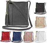 Стильна маленька жіноча сумочка крос-боді польський бренд, на ремені FB1872, фото 2