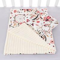 Плед и ортопедичская подушка с ловцами снов и цветами DIGITAL PRINT