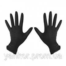 Нітрилові рукавички Чорні Mercator Medical Nitrylex® Black (100шт/уп), фото 2