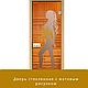 """Дверь стеклянная """"Бронза с рисунком"""" 8мм Липа, фото 3"""
