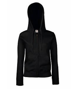 Женская премиум куртка-толстовка с капюшоном XS, 36 Черный
