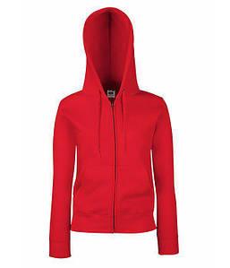 Женская премиум куртка-толстовка с капюшоном XS, 40 Красный
