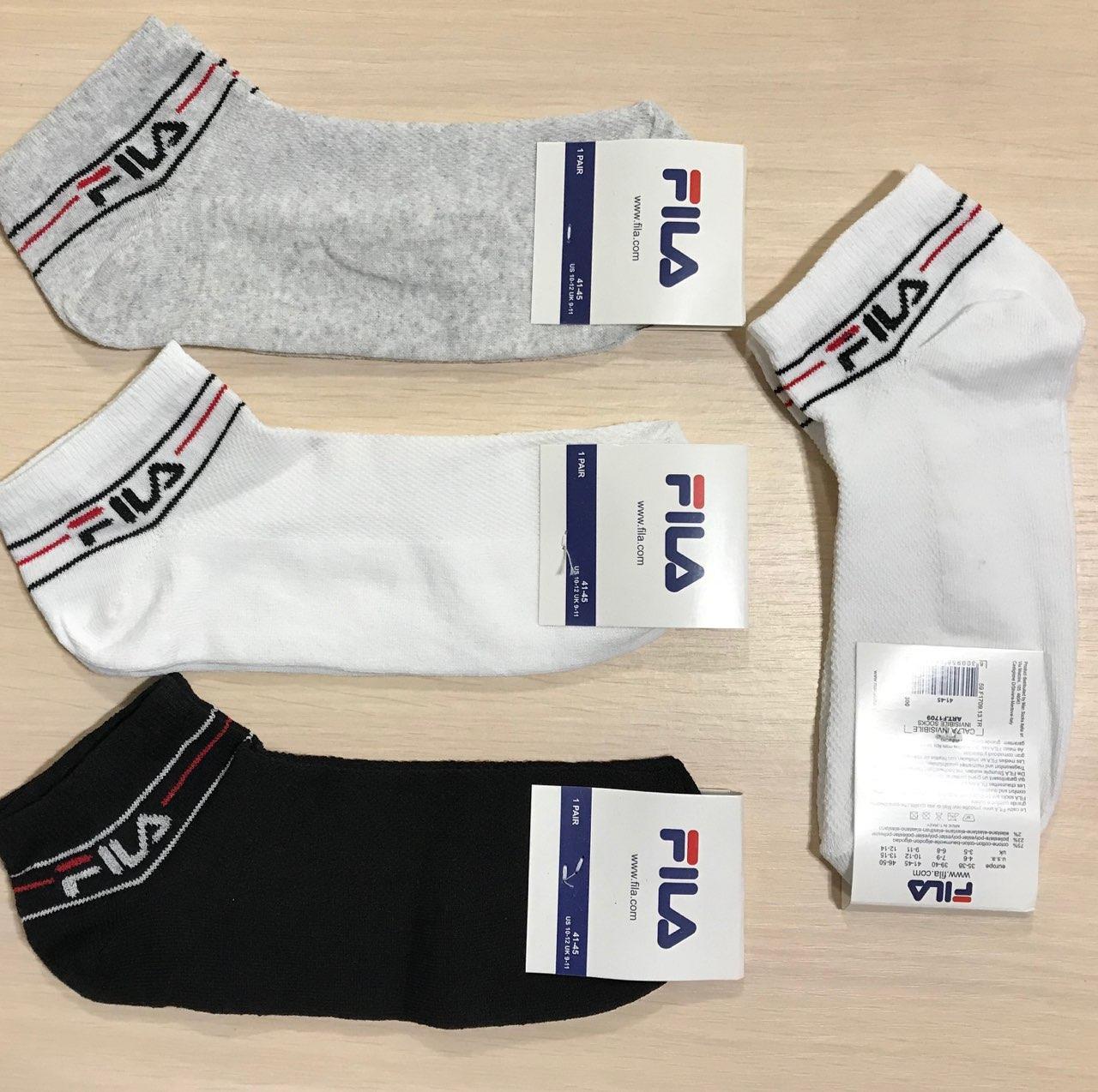 Шкарпетки спортивні демісезонні бавовна FILA розмір 41-45 асорті