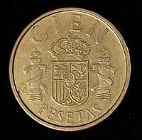 Монета Испании 100 песет 1986 г.