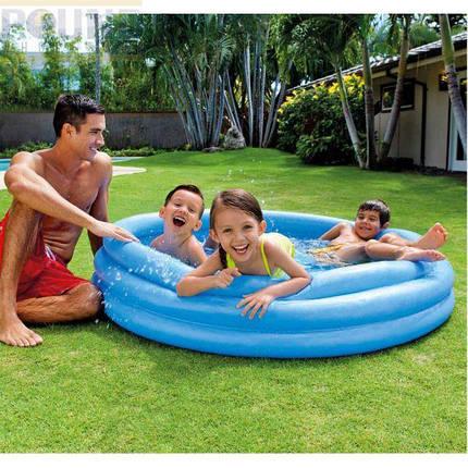 Детский круглый надувной бассейн. Диаметр 150 см, фото 2
