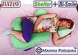 Комплект подушок Fantasy Shelter+Bi-Smile. Включені Наволочки 2-сторонні (Фіолетов.квіточки / Т. сині точки), фото 8