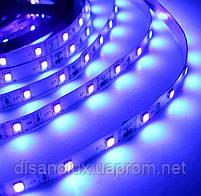 Светодиодная LED лента UV 2835 60LED/м  300LED 4,8W/м ультрафиолет 12V IP20, фото 4