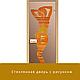 """Дверь стеклянная """"Бронза с рисунком"""" 8мм Ольха, фото 6"""