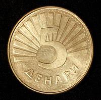Монета Македонії 5 denarów 2008 р. Рись звичайна