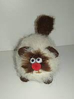 Валяная игрушка Котик из шерсти милый подарок