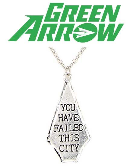 "Кулон ""You Have Failed This City"" Зеленая стрела / Green Arrow / DC"