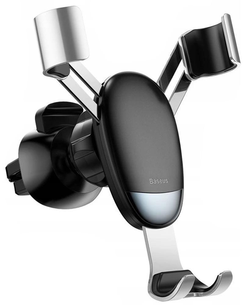 Автодержатель держатель в воздуховод Baseus (SUYL-G0S) Mini Gravity Holder Silver
