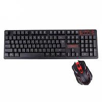 Беспроводная игровая клавиатура и мышь UKC HK-6500