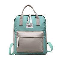 Зеленый городской рюкзак с серыми вставками опт, фото 1