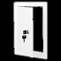Ревизионная дверца с замком ДМЗ 555*555 металл Вентс