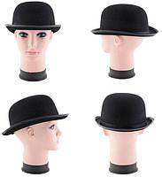 Черный котелок, карнавальный головной убор - аксессуар для вашего образа