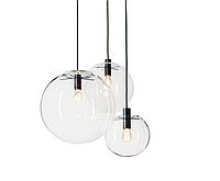 Подвесной светильник стеклянный шар d35см Е27, 1,5 м