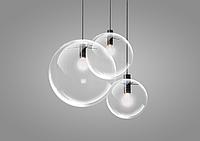 Подвесной светильник стеклянный шар d30см Е27, 1,5м