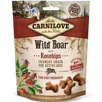 Carnilove Dog Crunchy Snacks Wild Boar with Rosehips Лакомство для собак кабан, шиповник, 200г
