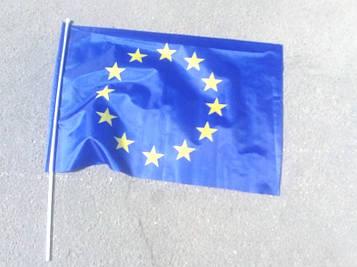 Флаг Евросоюза 60х90см с флагштоком