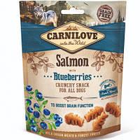 Carnilove Dog Crunchy Snacks Salmon with Blueberries Лакомство для собак лосось, черника, 200г